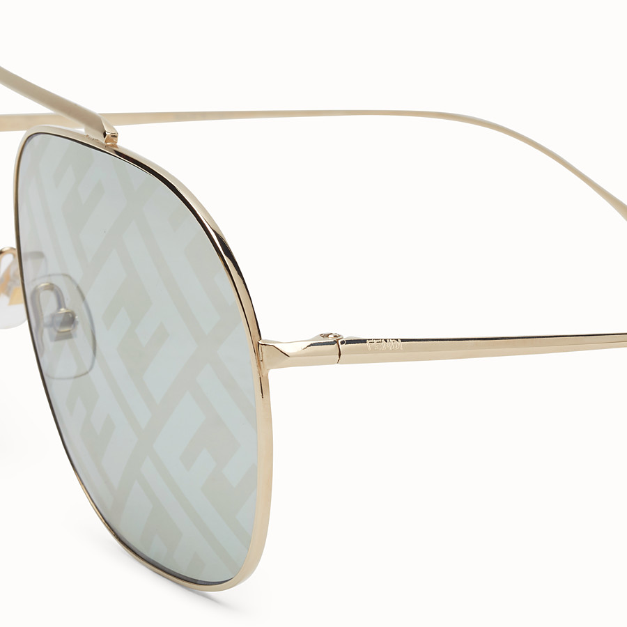 FENDI FF FAMILY - Metal sunglasses with FF logo - view 3 detail