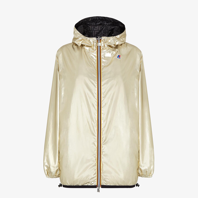 FENDI WINDBREAKER - Gold nylon FENDI x K-Way® jacket - view 1 detail