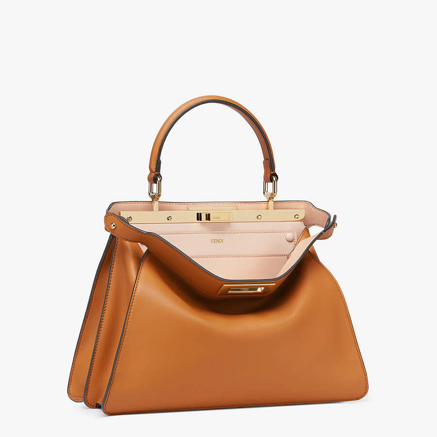 FENDI PEEKABOO ISEEU MEDIUM -  Brown leather bag - view 4 detail