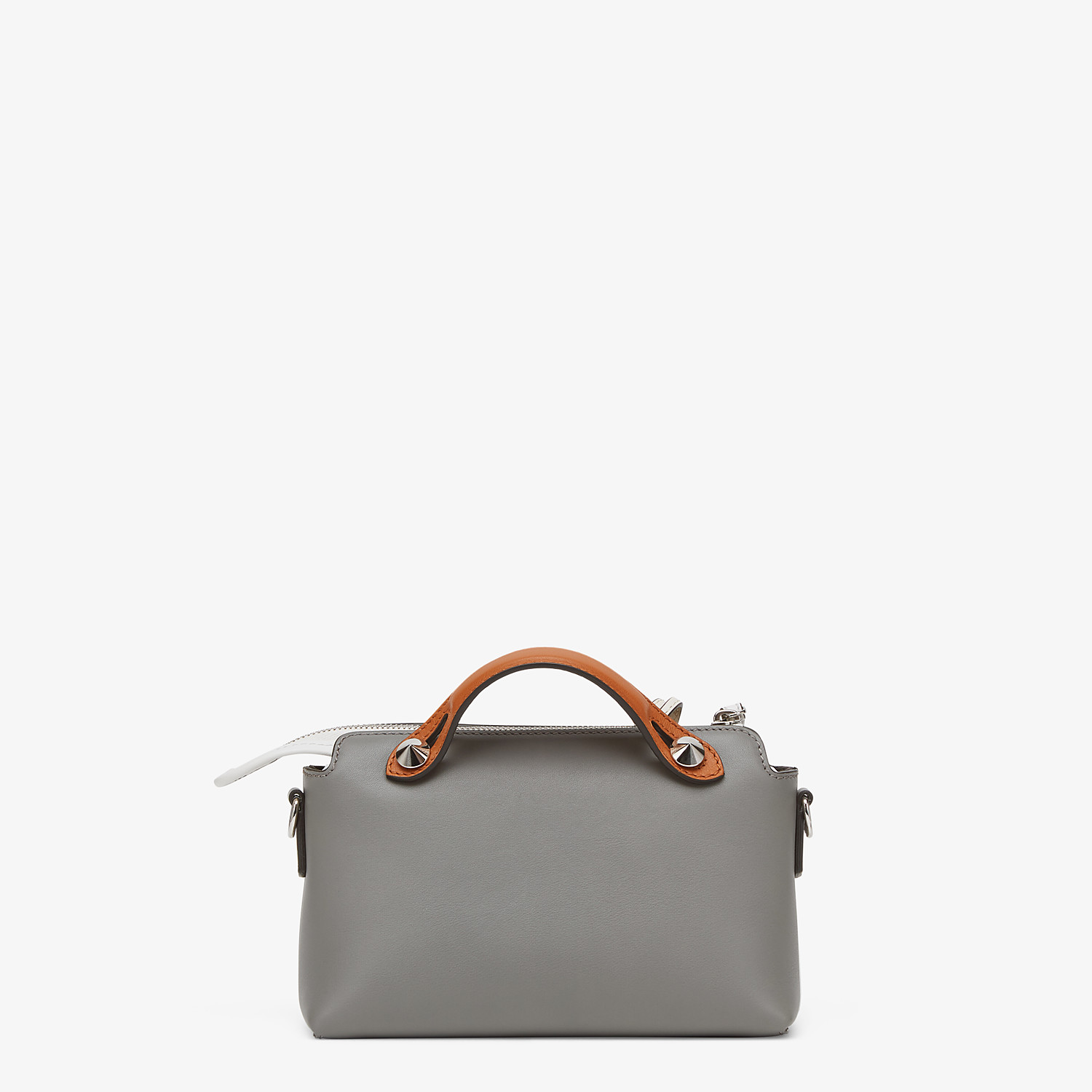 FENDI BY THE WAY MINI - Gray leather Boston bag - view 3 detail