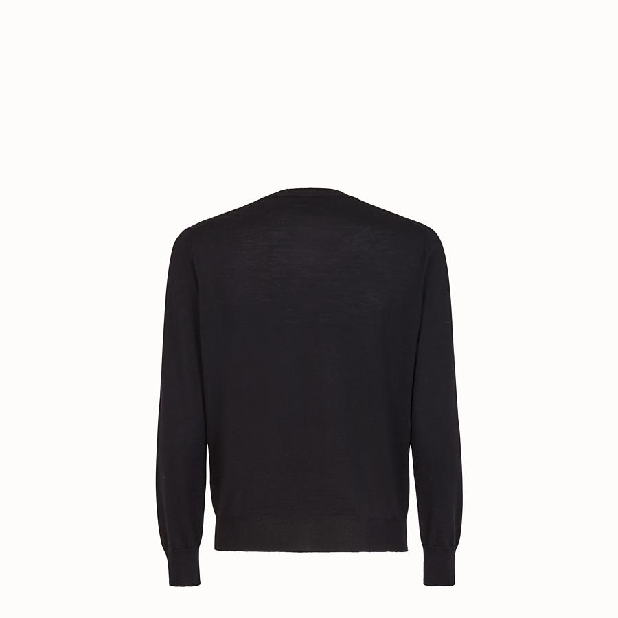 FENDI JUMPER - Black wool jumper - view 2 detail