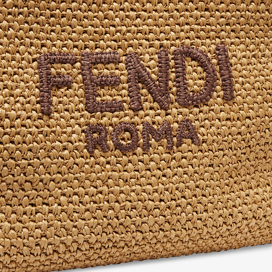 FENDI TOTE BAG - Beige raffia bag - view 5 detail