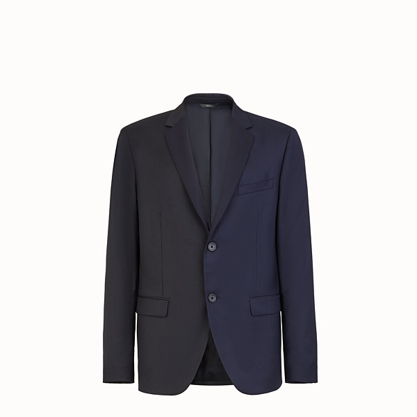 FENDI JACKET - Multicolour wool and silk blazer - view 1 small thumbnail