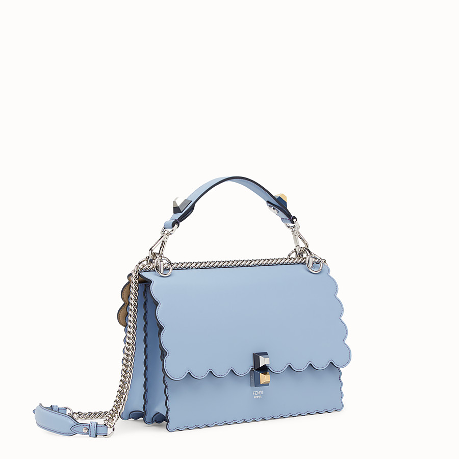 FENDI KAN I - Light blue leather bag - view 2 detail