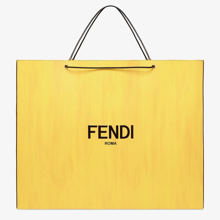 FENDI FENDI PACK LARGE SHOPPING BAG - Yellow leather bag - view 1 detail