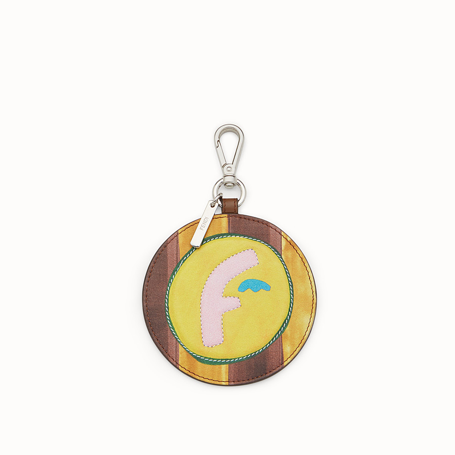 FENDI CHARM - Round multicoloured leather charm - view 1 detail