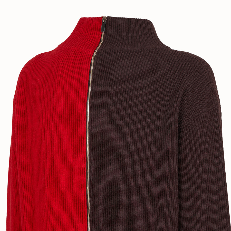FENDI CARDIGAN - Multicolor wool sweater - view 3 detail