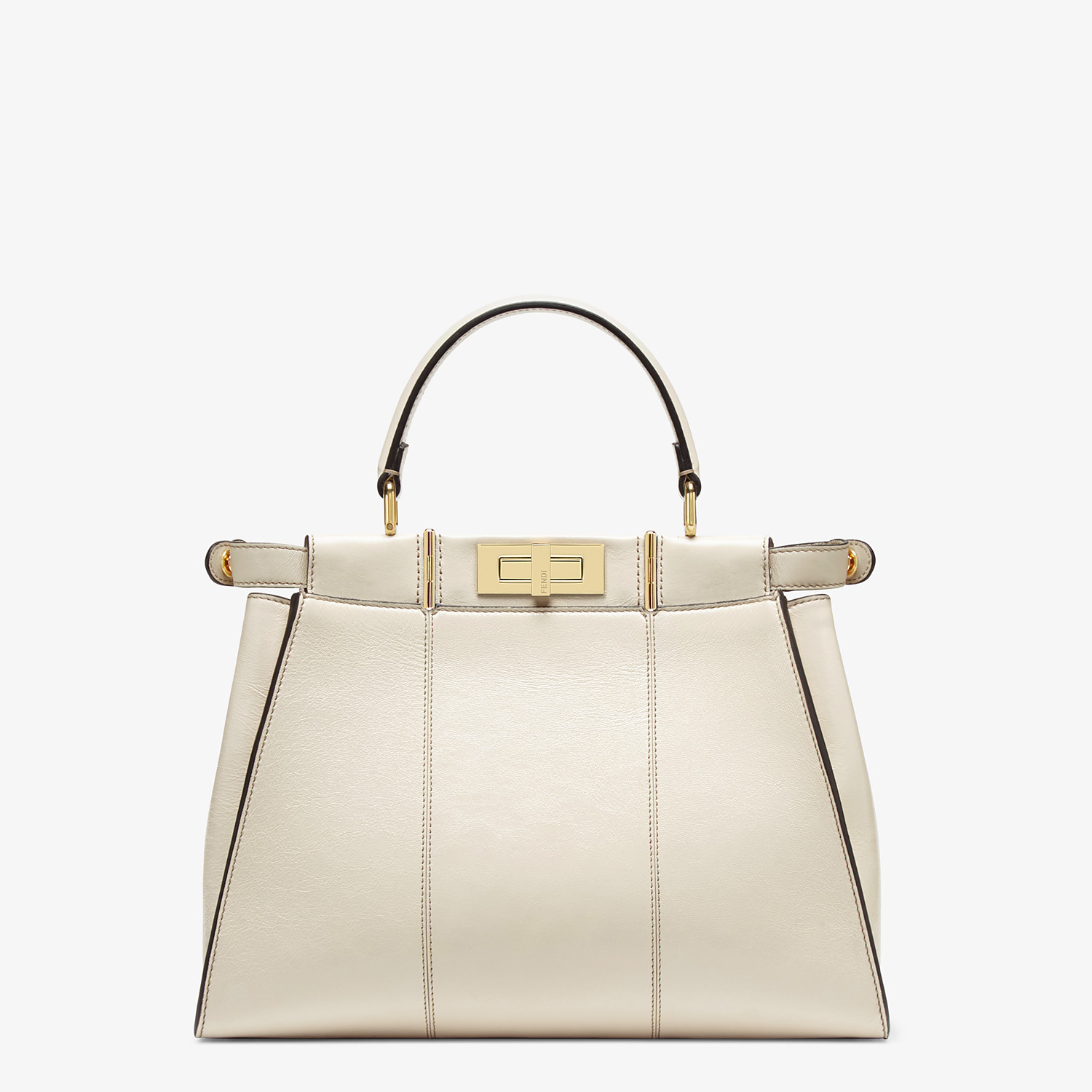 FENDI PEEKABOO ICONIC MEDIUM - White leather bag - view 5 detail