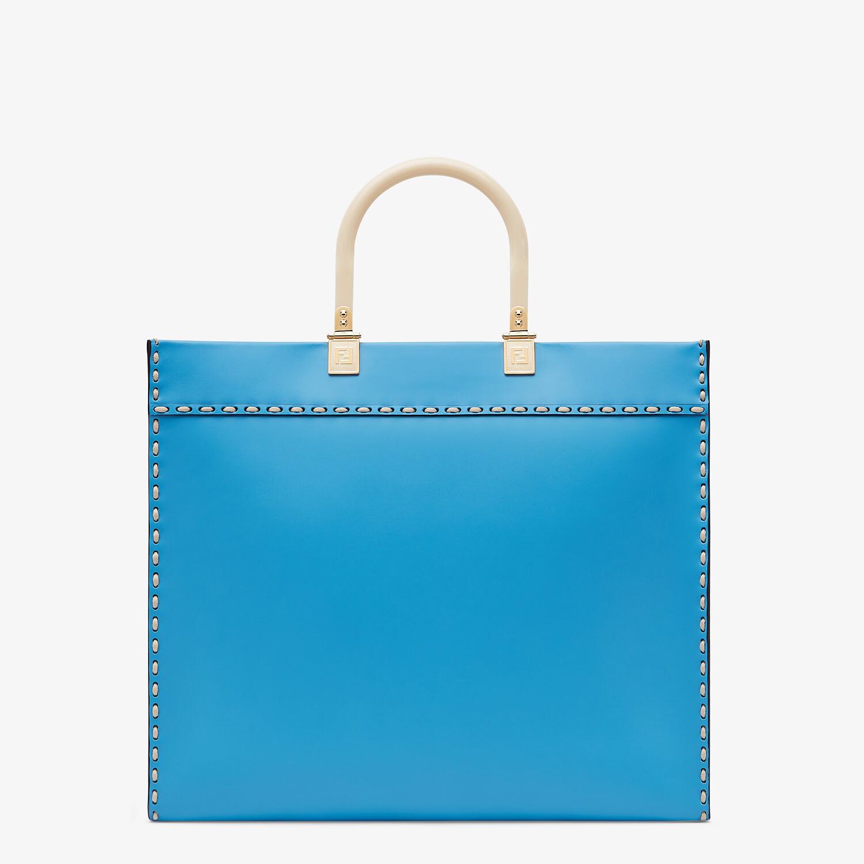 FENDI FENDI SUNSHINE MEDIUM - Blue leather shopper - view 4 detail