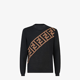 FENDI PULLOVER - Pullover aus Wolle in Schwarz - view 1 thumbnail