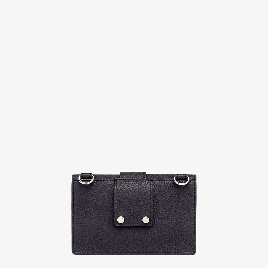 FENDI BAGUETTE POUCH - Black leather bag - view 3 detail