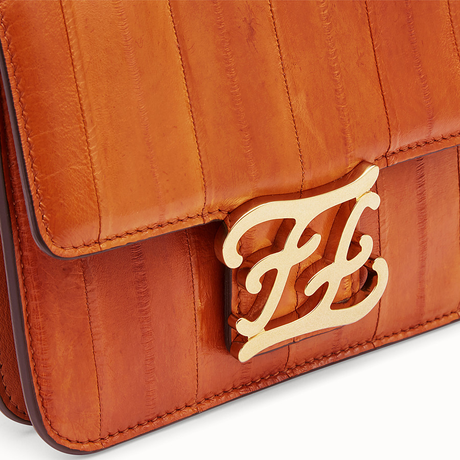 FENDI KARLIGRAPHY - Brown eel leather bag - view 6 detail