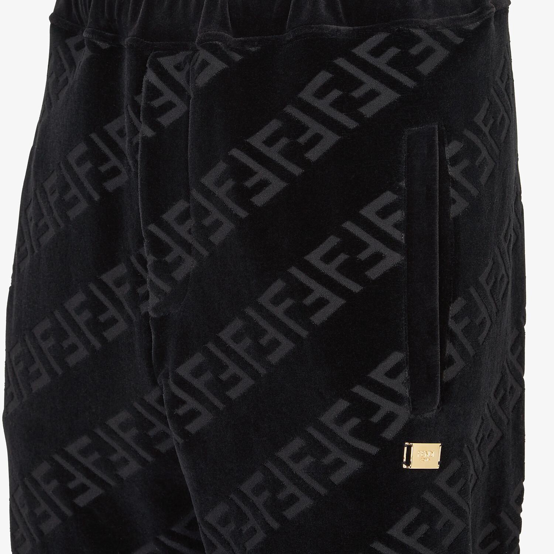 FENDI PANTS - Black velvet pants - view 3 detail