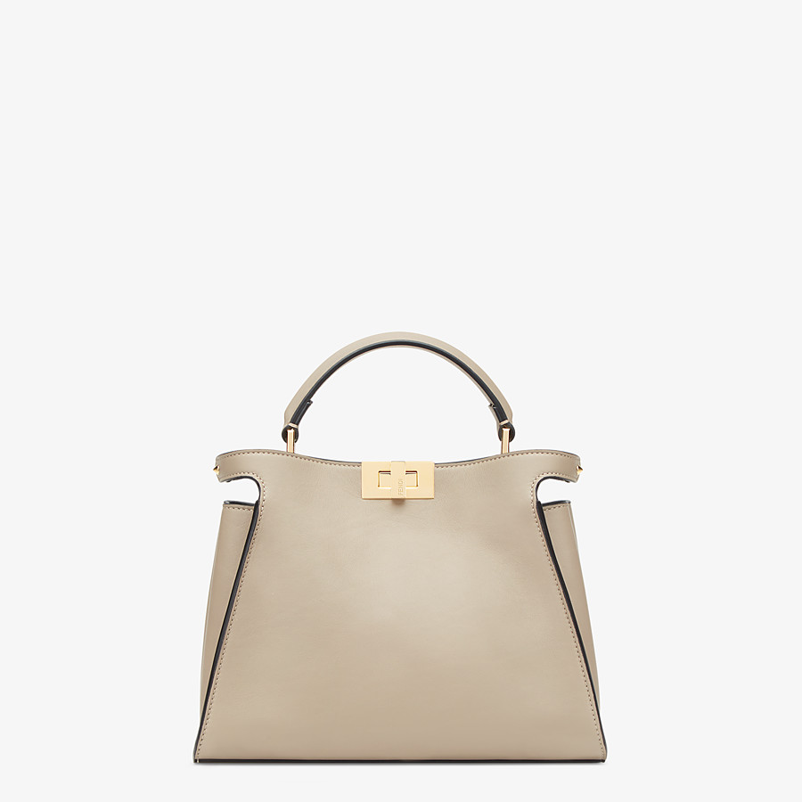 FENDI PEEKABOO ICONIC ESSENTIALLY - Dove gray leather bag - view 1 detail