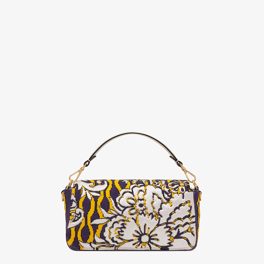 FENDI BAGUETTE - Bag with multicolor embroidery - view 3 detail