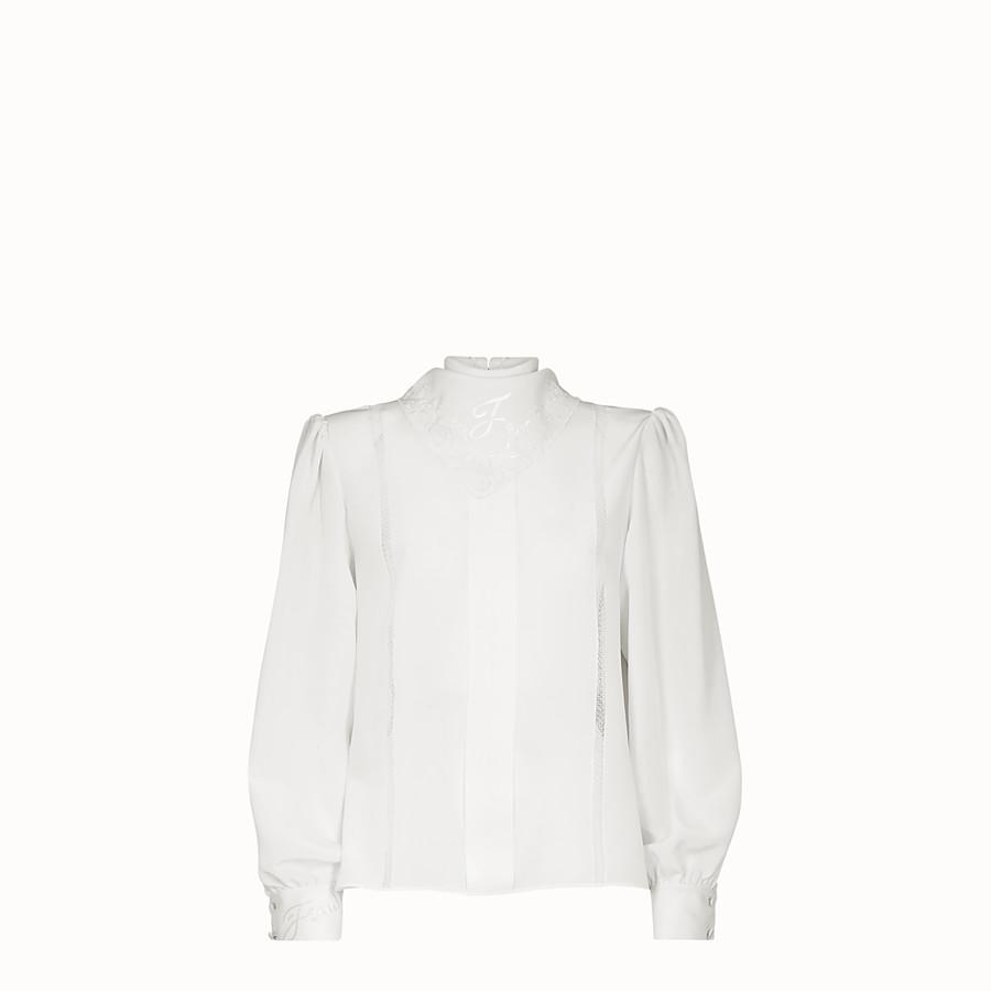 FENDI 셔츠 - 화이트 컬러의 크레이프 드 신 셔츠 - view 1 detail