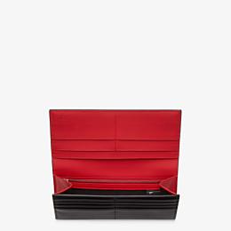 FENDI CONTINENTAL - Black leather wallet - view 3 thumbnail