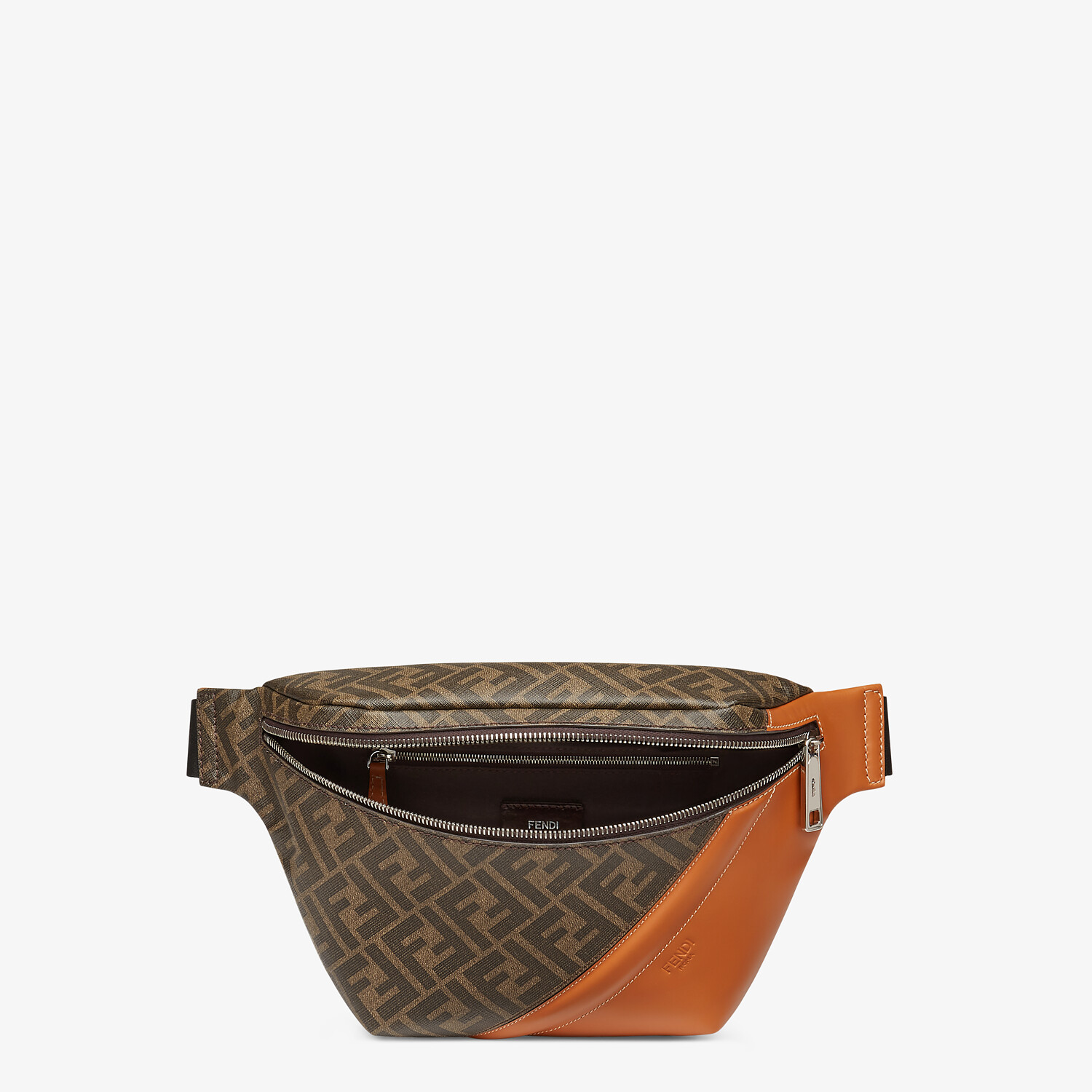 FENDI BELT BAG - Brown fabric belt bag - view 4 detail