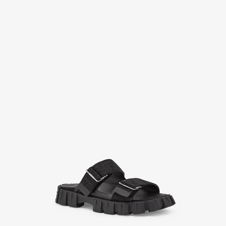 FENDI SANDALS - Black fabric sandals - view 2 detail