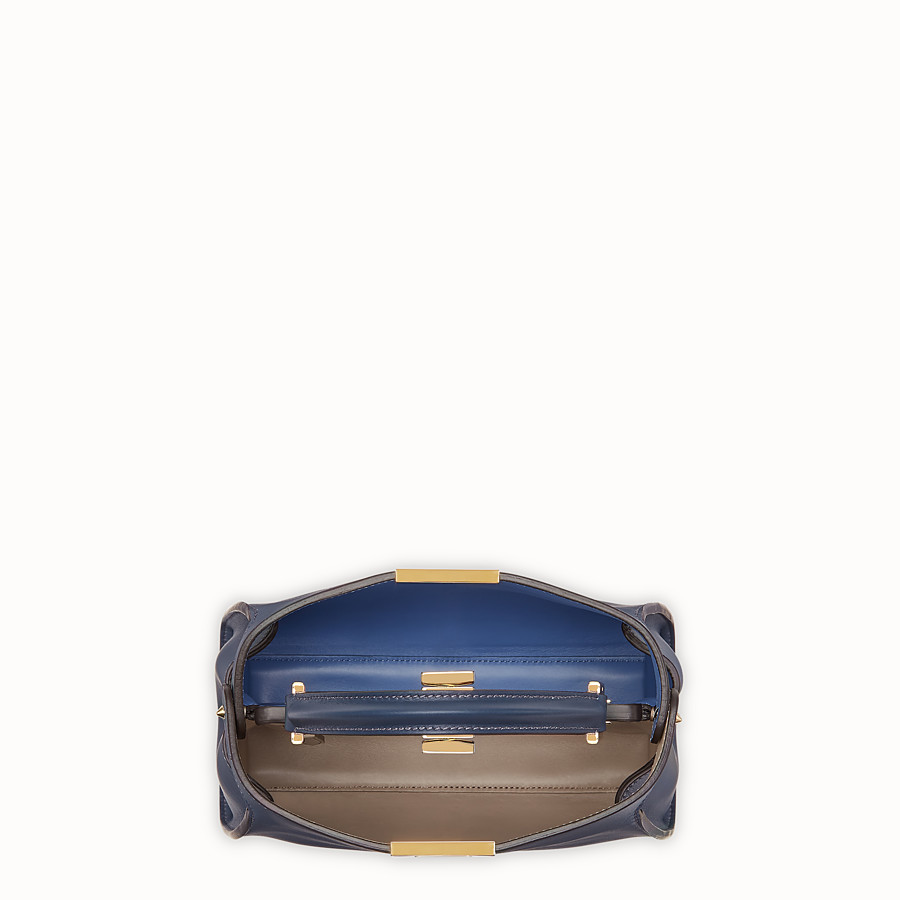 FENDI PEEKABOO ESSENTIALLY - Blue leather bag - view 4 detail