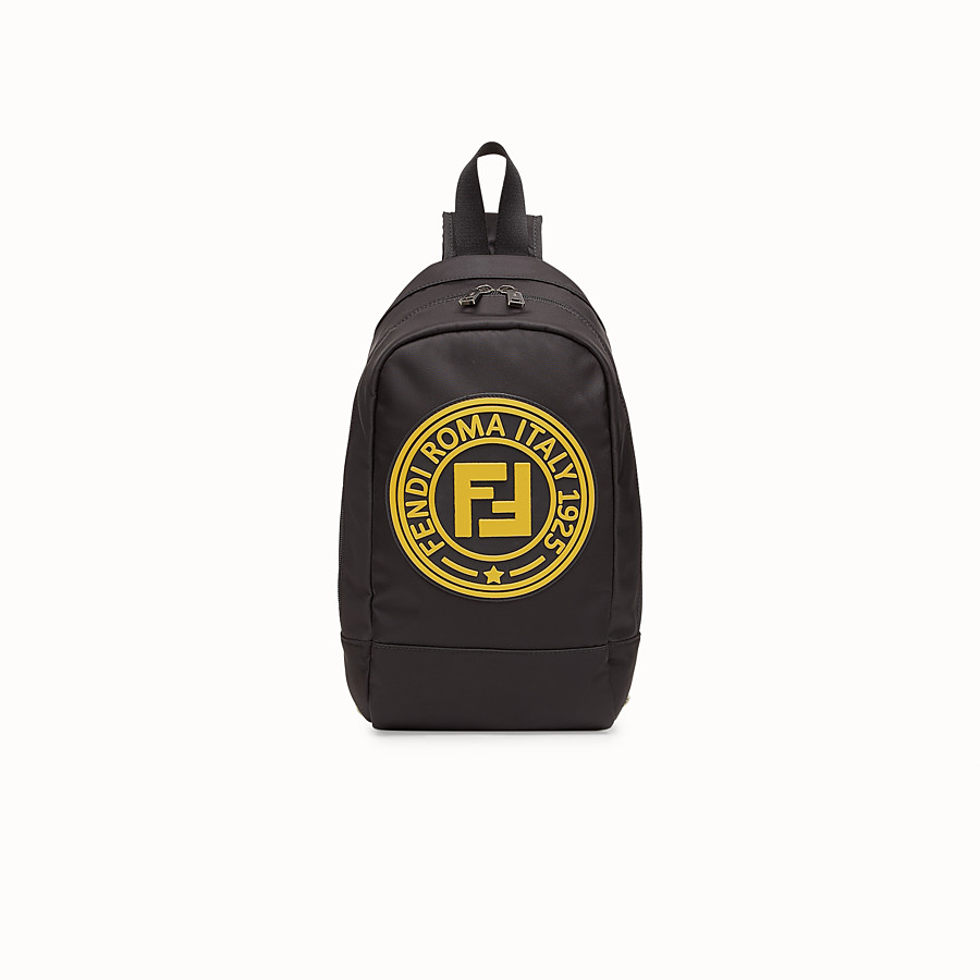 FENDI BABY BACKPACK - Black and palladium nylon backpack - view 1 detail