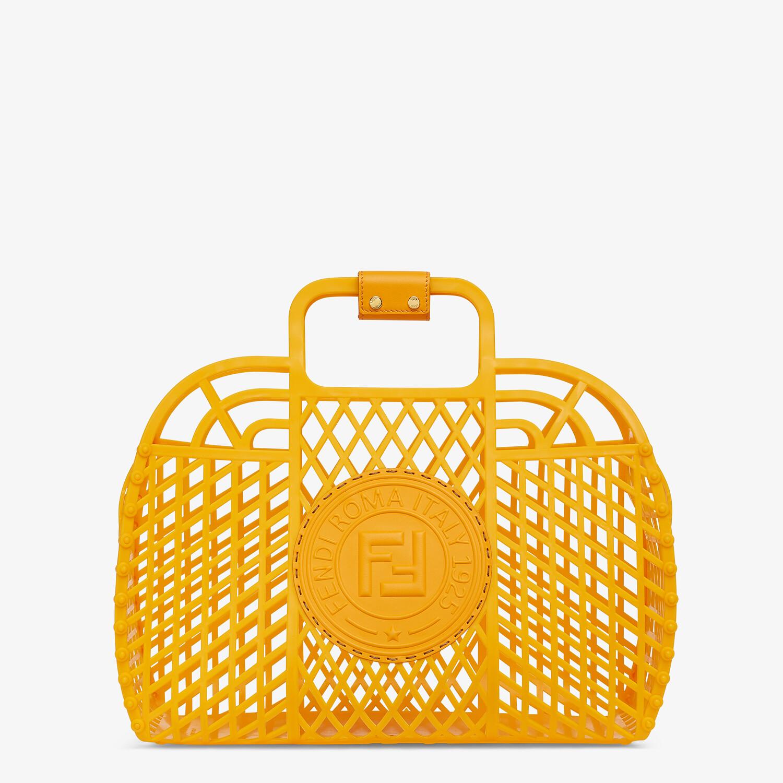FENDI FENDI BASKET MEDIUM - Minibag in plastica riciclata arancione - vista 1 dettaglio