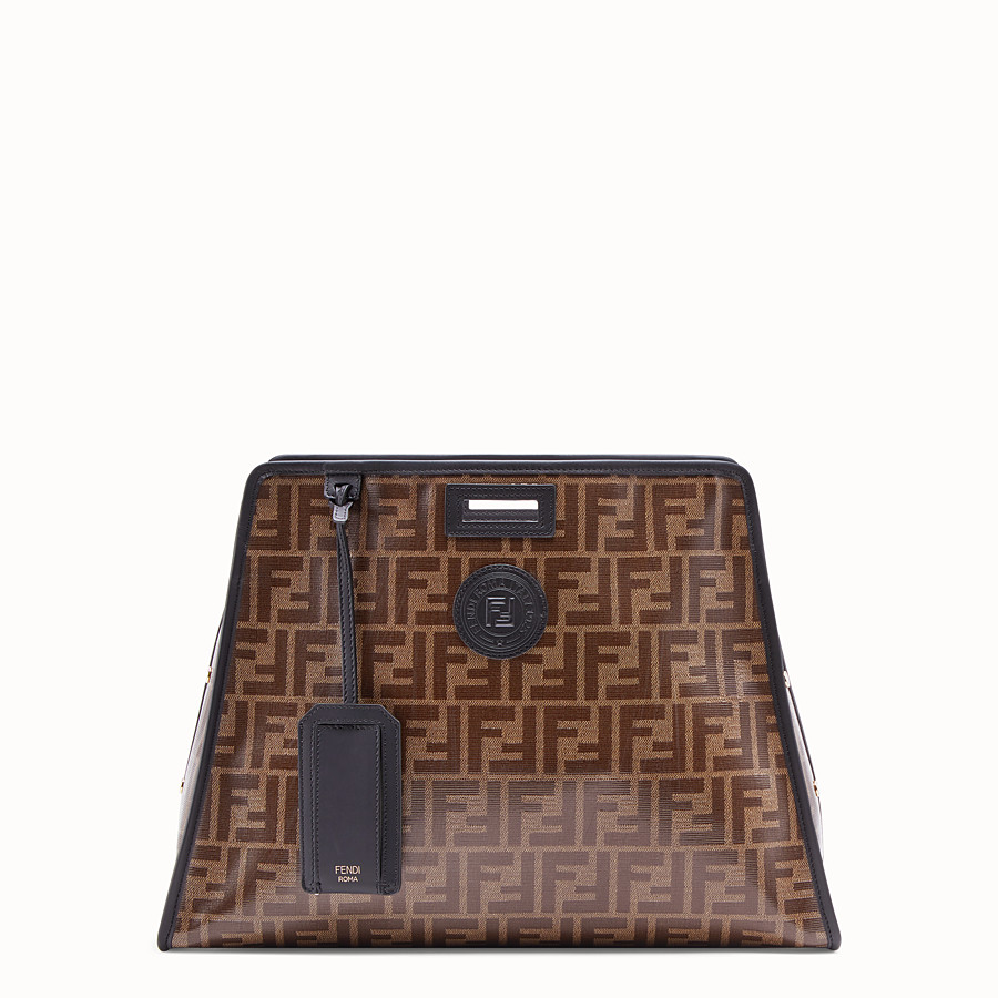 FENDI MEDIUM PEEKABOO DEFENDER - Peekaboo cover in brown fabric - view 1 detail