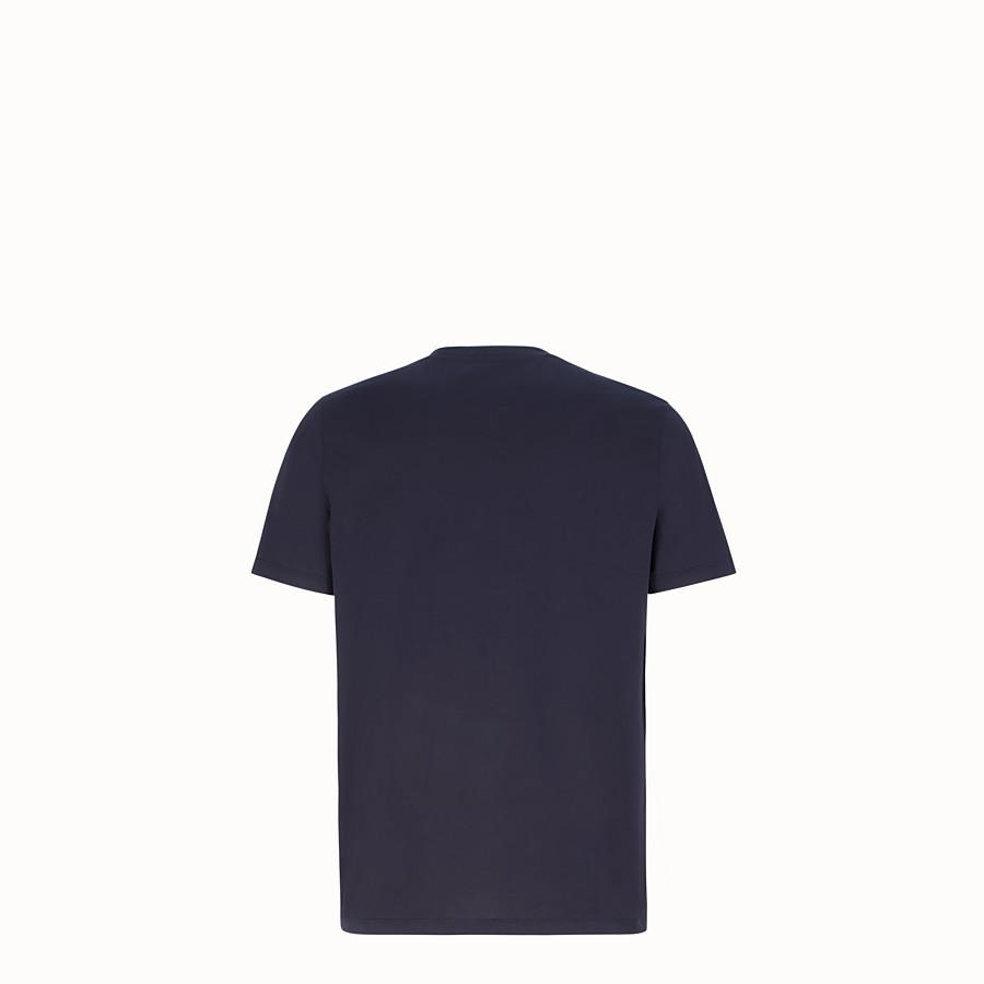 FENDI T-SHIRT - Dark blue cotton jersey T-shirt - view 2 detail