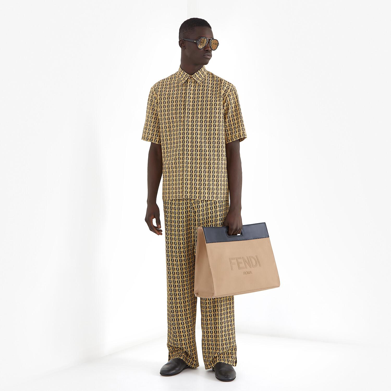 FENDI SHIRT - Beige viscose shirt - view 4 detail