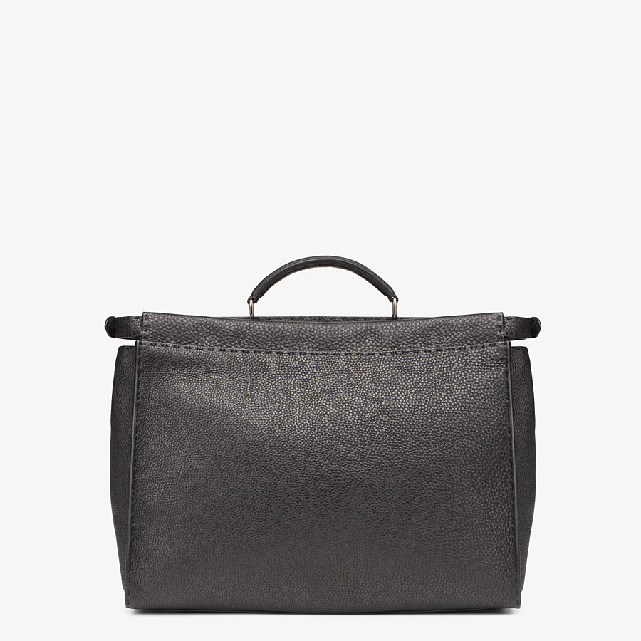 FENDI PEEKABOO ICONIC MEDIUM - Black leather backpack - view 3 detail