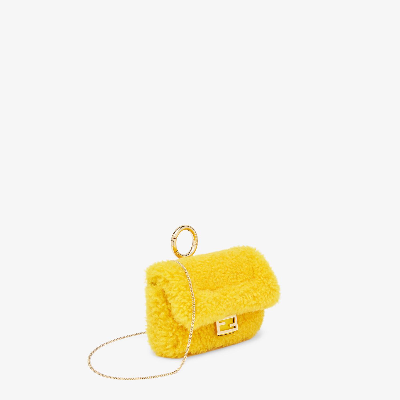 FENDI NANO BAGUETTE CHARM - Yellow sheepskin charm - view 2 detail