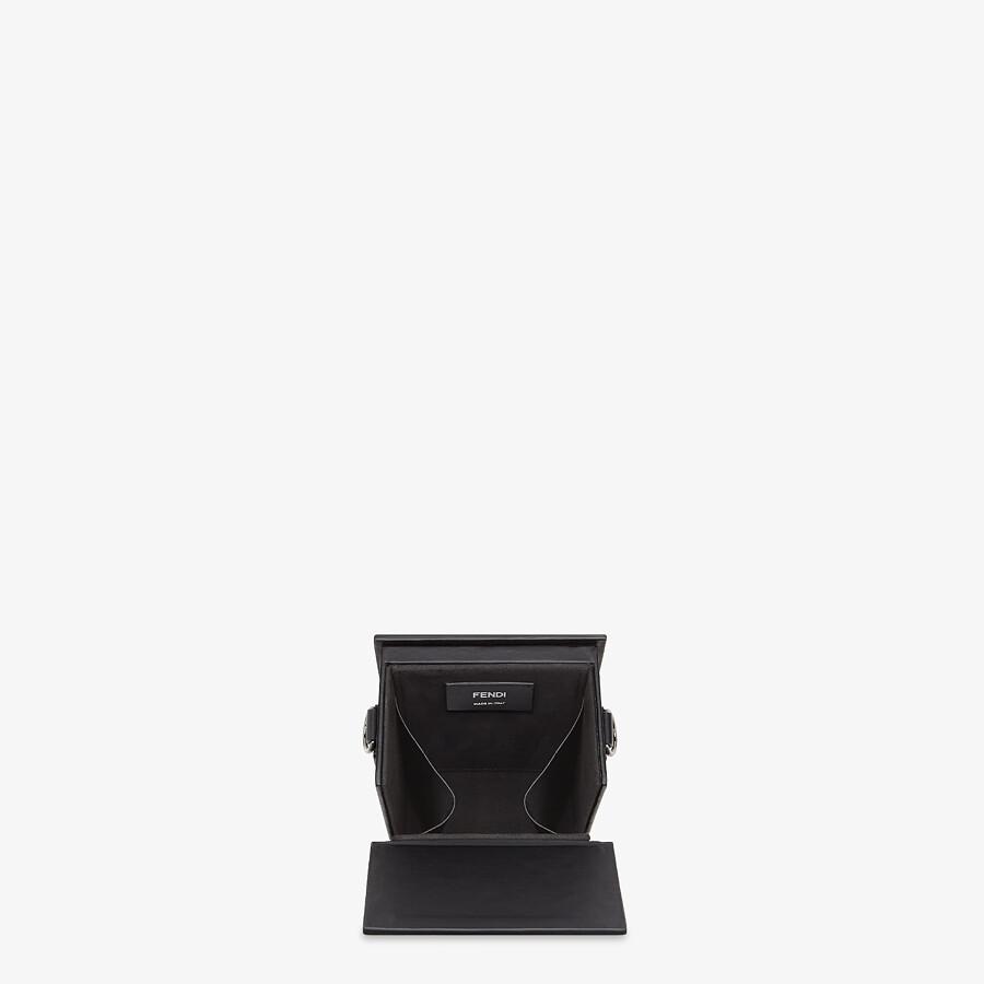 FENDI VERTICAL BOX - Black leather bag - view 4 detail