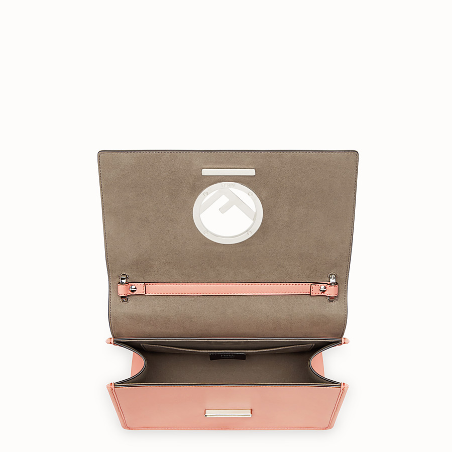 FENDI KAN I LOGO - Pink leather bag - view 4 detail