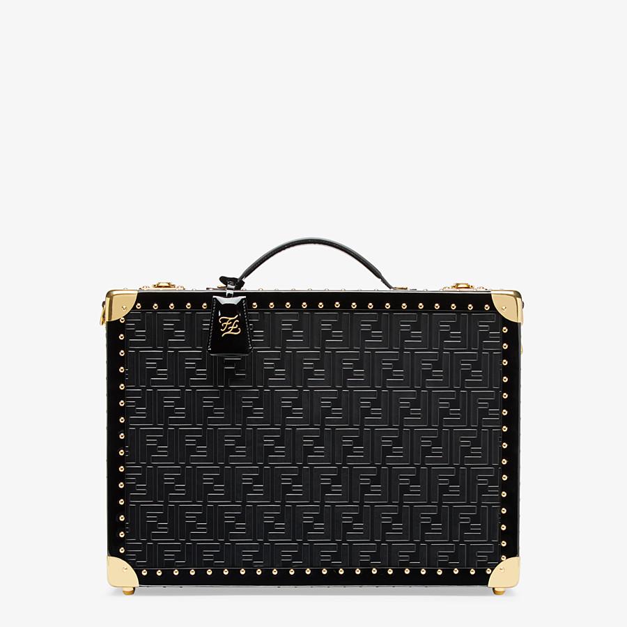 FENDI RIGID SUITCASE MEDIUM - Black leather suitcase - view 1 detail