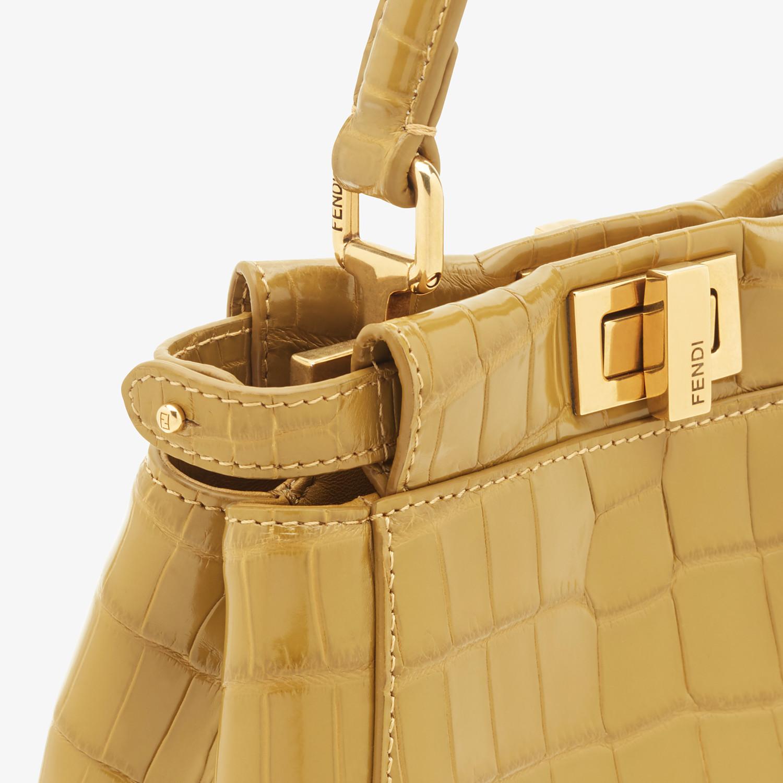 FENDI PEEKABOO ICONIC XS - Yellow crocodile mini-bag - view 5 detail