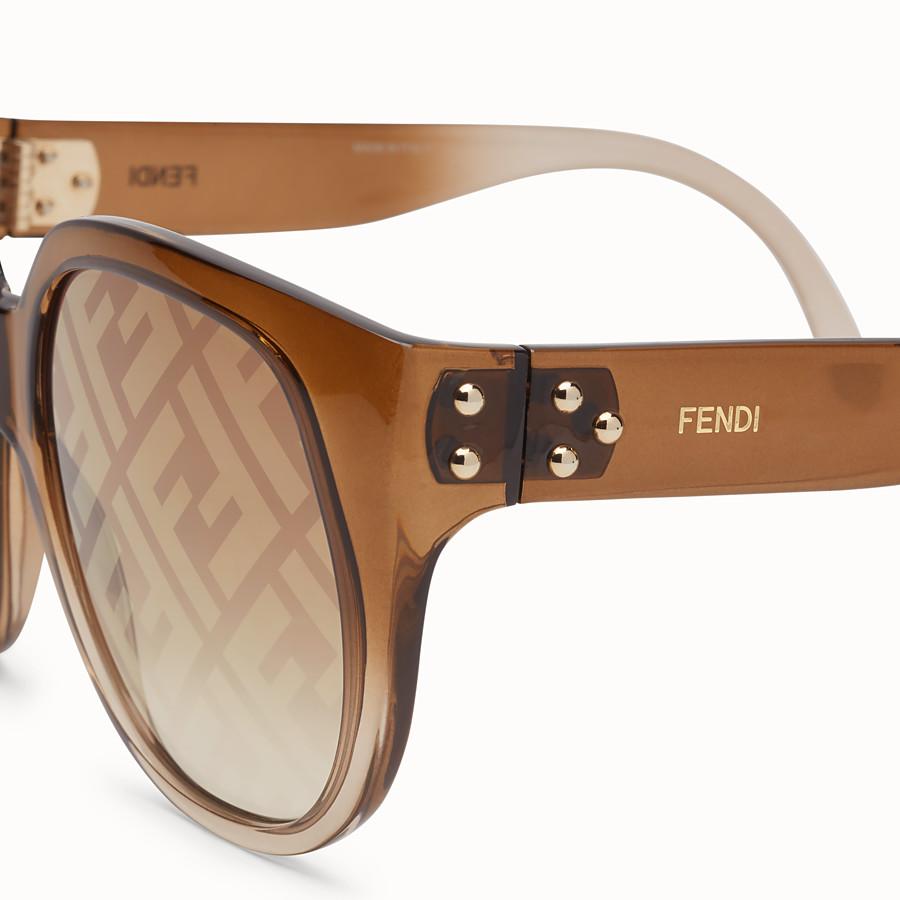 FENDI FENDI DAWN - Brown sunglasses - view 3 detail