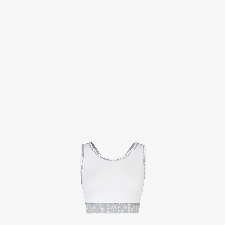 FENDI SPORTS TOP - White tech fabric top - view 1 detail