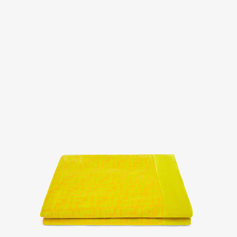 FENDI BEACH TOWEL - Yellow cotton beach towel - view 1 detail