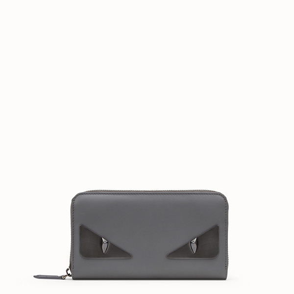 FENDI ZIP-AROUND - Gray leather wallet - view 1 small thumbnail