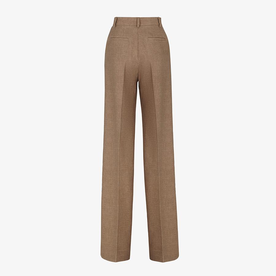 FENDI PANTS - Beige silk and wool pants - view 2 detail
