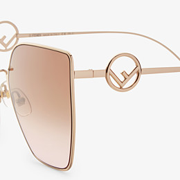 FENDI F IS FENDI - Gold-colored sunglasses - view 3 thumbnail