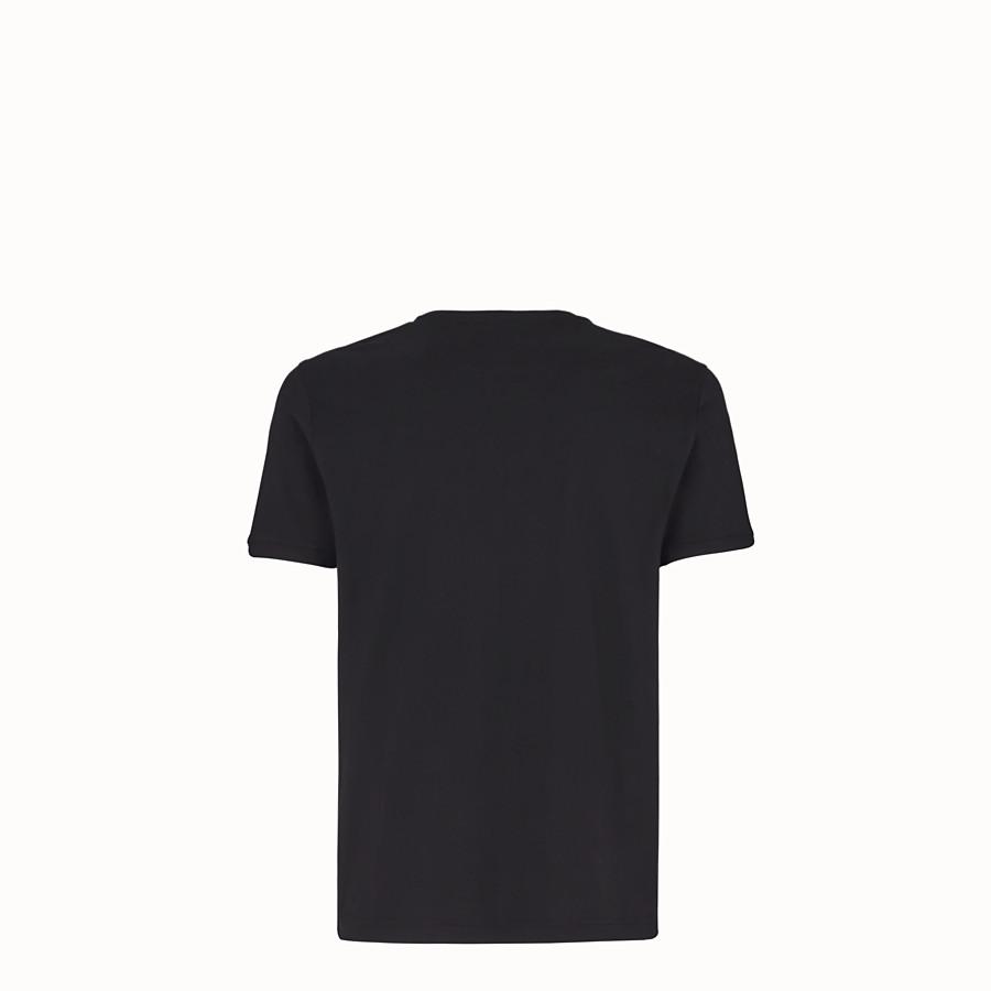 FENDI T-SHIRT - T-shirt in jersey nero - vista 2 dettaglio