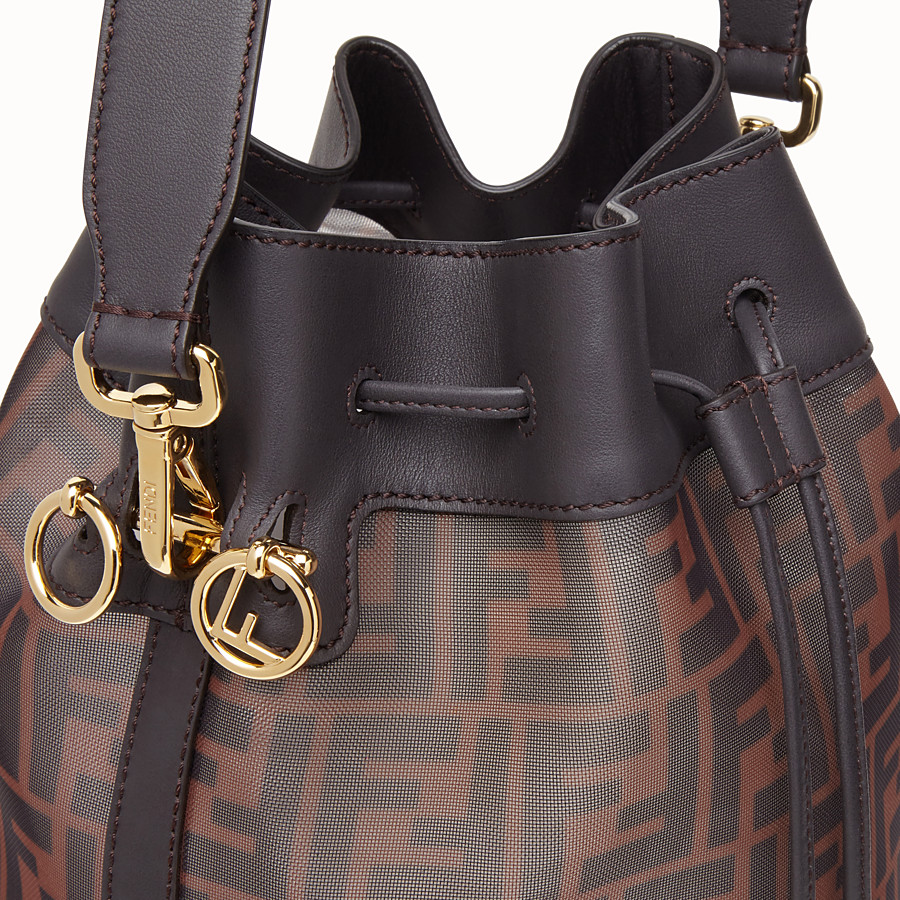FENDI MON TRESOR - Brown tech mesh bag - view 5 detail