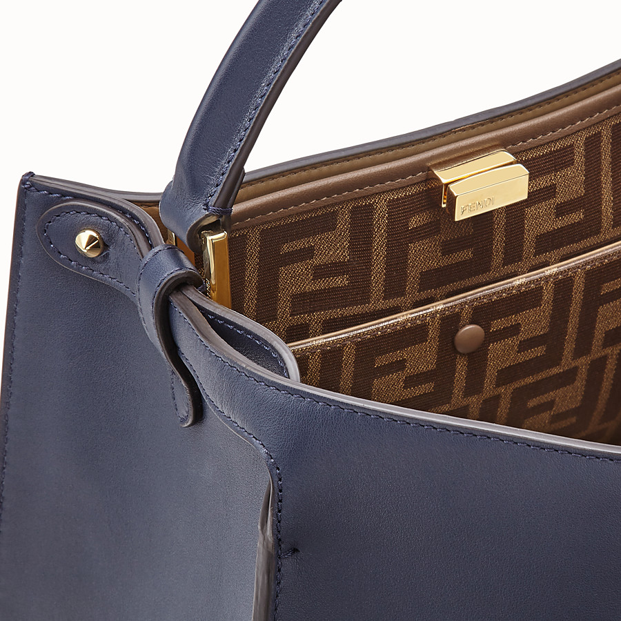 FENDI PEEKABOO X-LITE MEDIUM - Blue leather bag - view 6 detail