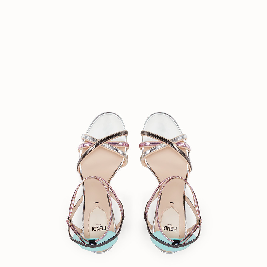 FENDI SANDALS - Multicolour leather sandals - view 4 detail