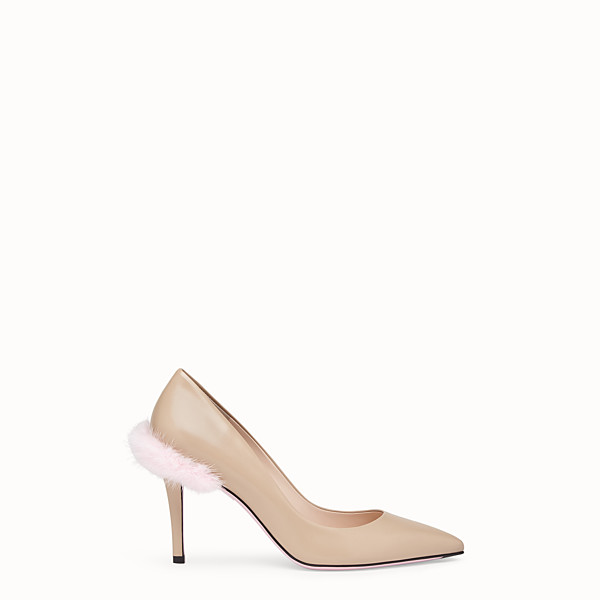 FENDI COURT SHOES - Beige leather court shoes - view 1 small thumbnail