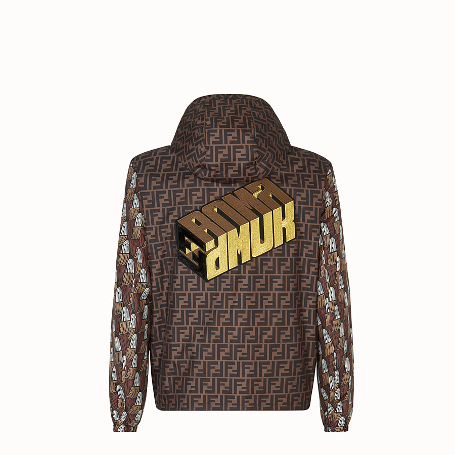 FENDI WINDBREAKER - Fendi Roma Amor fabric windbreaker - view 2 detail