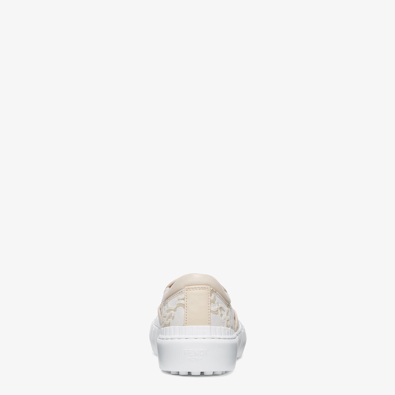FENDI FENDI FORCE - White fabric sneakers - view 3 detail