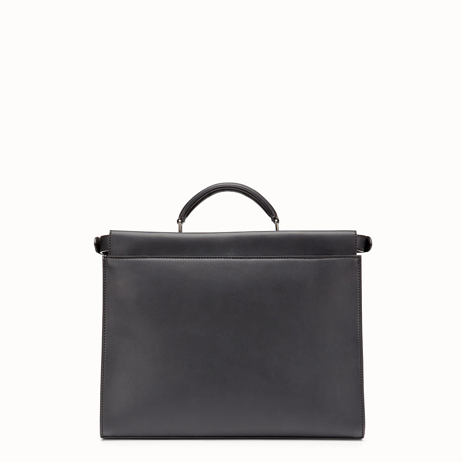 FENDI PEEKABOO FIT - Black leather bag - view 3 detail