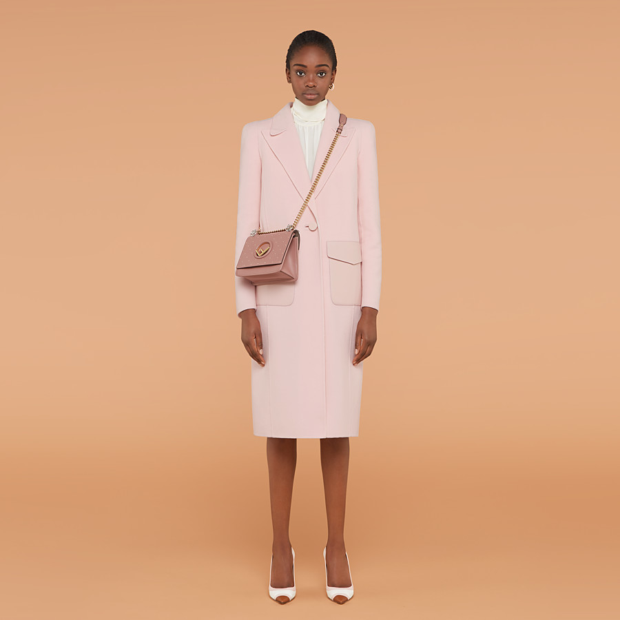FENDI OVERCOAT - Pink wool overcoat - view 4 detail